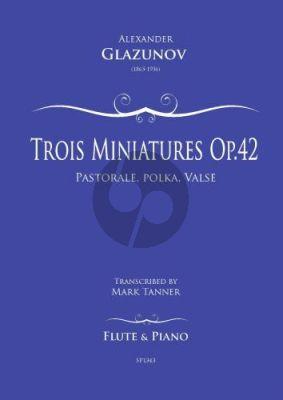 Glazunov Trois Miniatures Op.42 No.1 for Flute and Piano