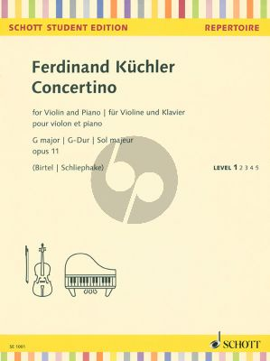 Kuchler Concertino G-dur Op.11 Violin-Piano (1st.pos.)