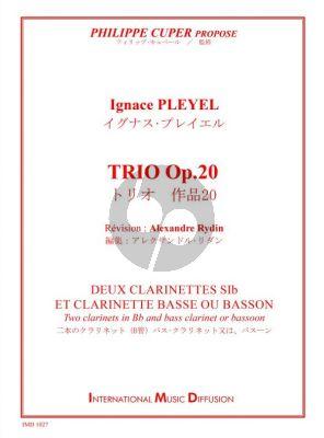 Pleyel Trio Op.20 2 Clarinets(Bb) and Bass Clarinet or Basoon)