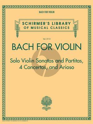 Bach for Violin – Sonatas and Partitas, 4 Concerto's and Arioso