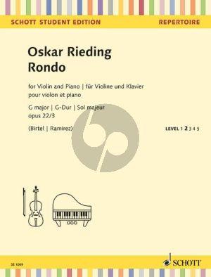 Rieding Rondo G-major Op.22 No.3 Violin-Piano