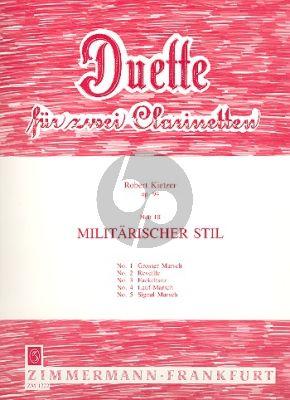 Kietzer Duette Op.94 Vol.3 Militärischer Stil 2 Klarinetten