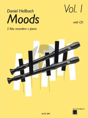 Hellbach Moods Vol.1 2 Alto Recorders-Piano (Bk-Cd)
