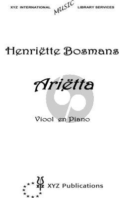 Bosmans Arietta Viool en Piano
