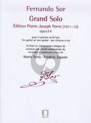 Sor Grand Solo - Édition Pierre Porro (1811–12) Op.14 Guitar