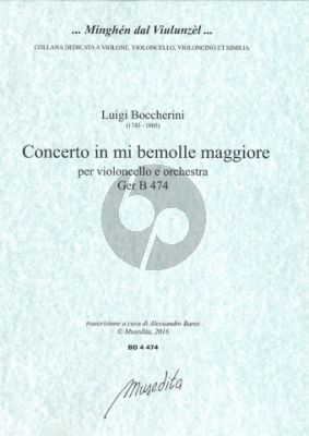 Boccherini Concerto E-flat major No.5 G.474 Violoncello-Orch. (piano red.) (Bares)