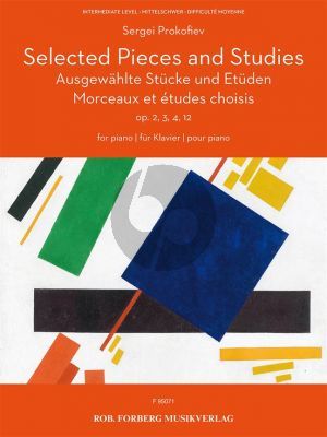 Prokofieff Selected Pieces and Studies from Op. 2-3-4-12 for Piano