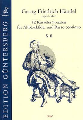 Handel 12 Kasseler Sonaten Vol.2 (No.5-8) Altblockflöte-Bc
