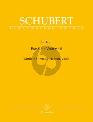 Schubert Lieder Vol.8 (Medium Voice) (edited by Walter Durr) (Barenreiter)