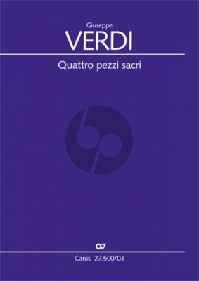 Verdi 4 Pezzi Sacri Klavierauszug