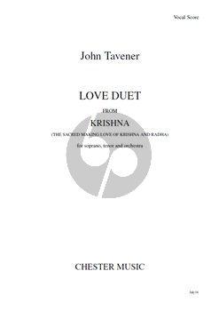 Tavener Love Duet from Krishna Sopran-Tenor-Orchestra Vocal Score