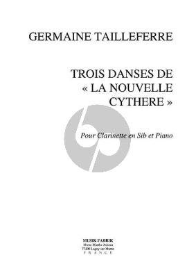 Tailleferre 3 Danses extrait de La Nouvelle Cythere Clarinette[Bb]-Piano