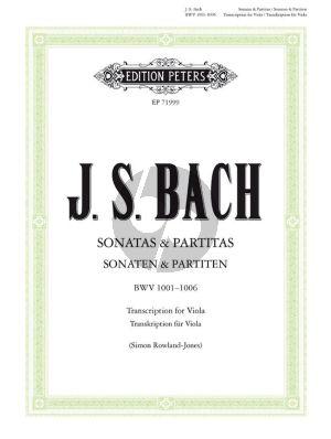 Bach Sonatas & Partitas for Viola BWV 1001-1006 (orig. Violin) (edited by Simon Rowland Jones and David Ledbetter)