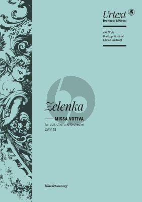 Zelenka Missa votiva in e-minor ZWV 18 Soli-Choir-Orch. Vocal Score