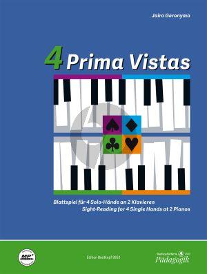 Geronymo 4 Prima Vistas (Sight-Reading for 4 Single Hands at 2 Pianos