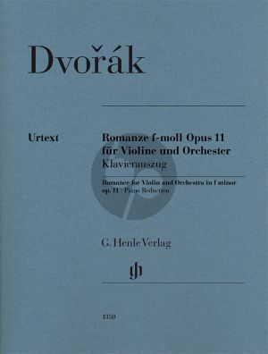 Dvorak Romanze f-moll Op.11 Violine-Orchester Klavierauszug (Henle)