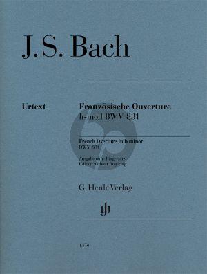 Bach Französische Ouverture h-moll BWV 831 Klavier (ohne Fingersatz)