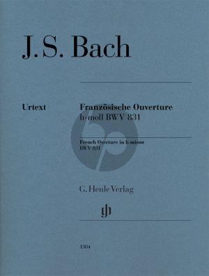 Bach Französische Ouverture h-moll BWV 831 Klavier (mit Fingersatz)