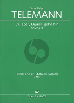 Telemann Du aber, Daniel, gehe hin Trauermusik TWV 4:17 Soli-Chor-Orch. Klavierauszug