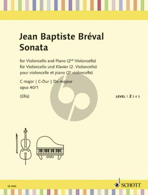 Brevak Sonata C-major Op.40 No.1 Violoncello[with 2nd Cello]-Piano