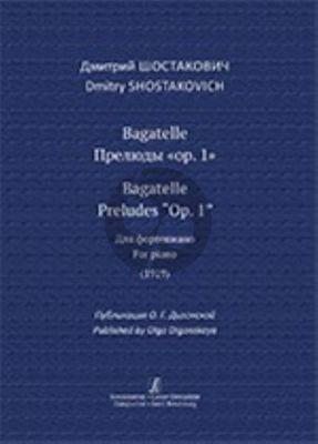 Shostakovich Bagatelle. Preludes Op.1 Piano solo (1919)