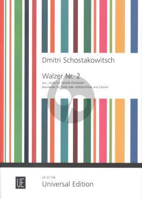 """Shostakovich Walzer No.2 aus """"Suite für Varieté-Orchester"""" Flöte(Altblockfl.)-Gitarre"""