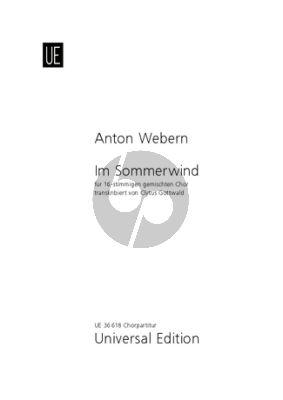 Webern Im Sommerwind 16-stimmigen Gemischten Chor (Clytus Gottwald)