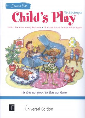 Rae Child's Play (18 first pieces for young beginners) Flute-Piano