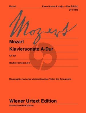 Mozart Sonate A-Dur KV 331 Klavier (Reutter-Scholz-Levin)