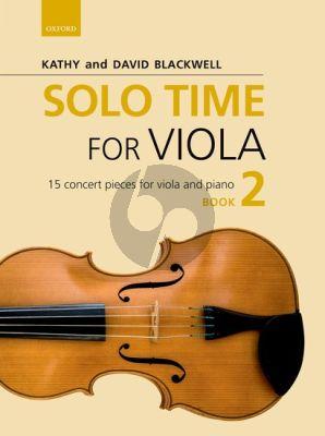 Solo Time for Viola Book 2 Viola-Piano