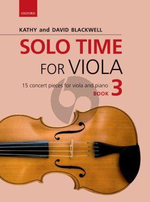 Blackwell Solo Time for Viola Book 3 Viola-Piano