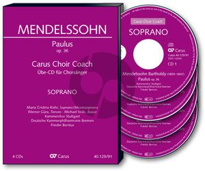 mendelssohn Paulus Op.36 (SATB[soli]-SATB[choir]-Orch.) Choir Coach Bass 4 CD's
