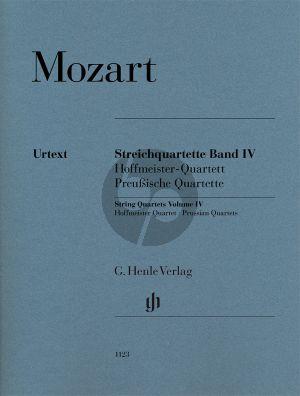 Mozart Streichquartette Vol.4 (Hoffmeister und Preussische Quartette) Stimmen (Henle)
