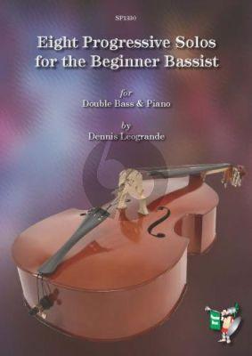 Leogrande 8 Progressive Solos for the Beginner Bassist Double Bass-Piano