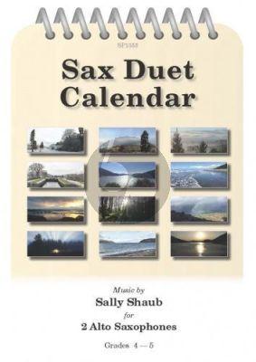 Shaub Sax Duet Calendar 2 Alto Saxophones