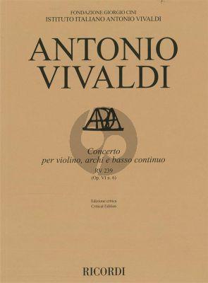 Vivaldi Concerto d-minor RV 239 (Op.VI/6) Violin-Strings-Bc. (edited by Alessandro Borin)