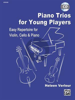 verleur Piano Trios for Young Players (Easy Repertoire) Violin-Violoncello-Piano (Bk-Cd)