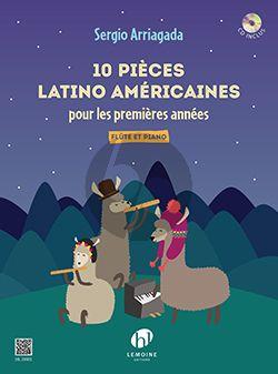 Arriagada 10 Pièces latino américaines Flute-Piano (Livre avec CD)