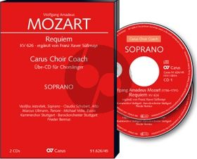 Mozart Requiem KV 626 Soli-Choir-Orch. (Süssmayr Version) Bass Chorstimme 2 CD's (Carus Choir Coach)
