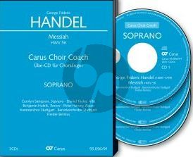 Handel Messiah HWV 56 Soli-Choir-Orch. Bass 3 CD's (english) (Carus Choir Coach)