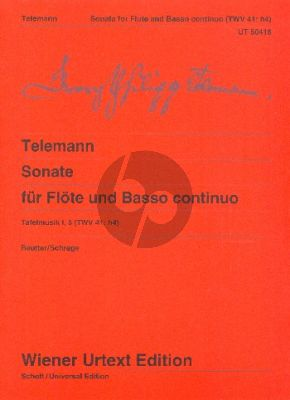 Telemann Sonate h-moll TWV 41:h4 (Tafelmusik I) Flöte-Bc (Jochen Reutter) (Wiener-Urtext)