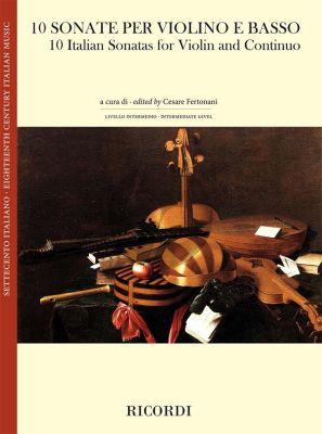 10 Italian Sonatas Violin-Bc. (edited by Cesare Fertonani)