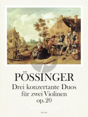 Possinger 3 konzertante Duos Op.20 2 Violinen (ed. Yvonne Morgan)