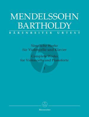 Mendelssohn Sämtliche Werke Band 1 Violoncello-Klavier (Larry R. Todd) (Barenreiter-Urtext)
