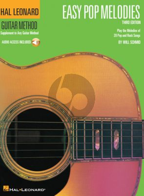 Easy Pop Melodies for Guitar (Book with Audio online) third edition