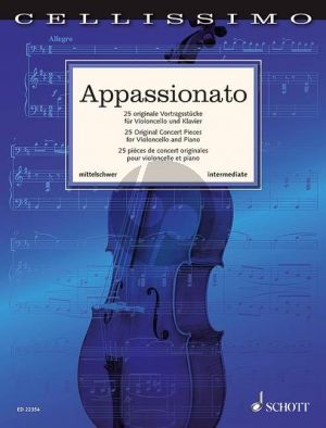 Appassionato 25 Original Concert Pieces Violoncello and piano (edited by Rainer Mohrs and Elmar Preusser)