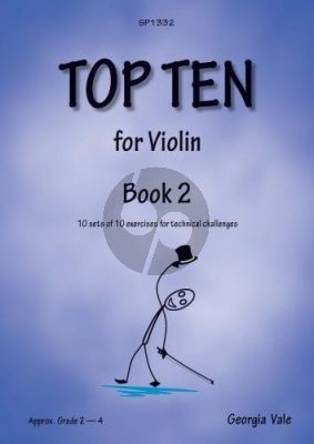 Vale Top Ten for Violin Vol. 2 (10 sets of 10 exercises for technical challenges)