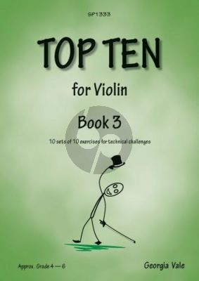 Vale Top Ten for Violin Vol. 3 (10 sets of 10 exercises for technical challenges)