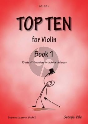 Vale Top Ten for Violin Vol. 1 (10 sets of 10 exercises for technical challenges)
