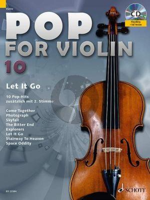 Pop for Violin Vol.10 Let it Go (10 Pop Hits with a 2nd. Violin) (Bk-Cd) (arr. Michael Zlanabitnig)